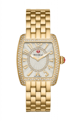 Michele Urban Mini Diamond Gold, Diamond Dial Watch