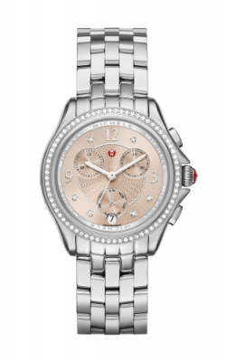 Belmore Chrono Diamond, Beige Diamond Dial Watch