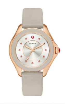 Michele Cape Taupe Rose Gold, Topaz Dial