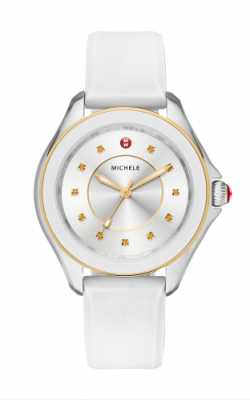Michele Cape White Two-Tone, Topaz Dial