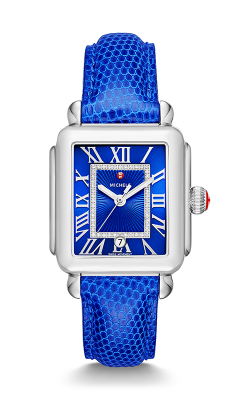 Michele Deco Madison, Cobalt Diamond Dial Cobalt Lizard Watch MW06T00A0101 MS18AA030402 product image