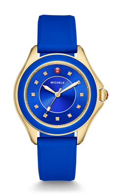 Michele Cape Topaz Cobalt Gold Watch MWW27A000026