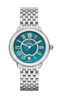 Michele Serein Mid, Teal Diamond Dial Watch MW21B00A0029_MS16DH235009