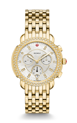 Michele Sidney Diamond Gold, Diamond Dial Watch MW30A01B0046 MS18GA246710 product image