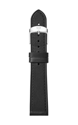 Michele 16mm Thin Black Calfskin Strap MS16AA690001