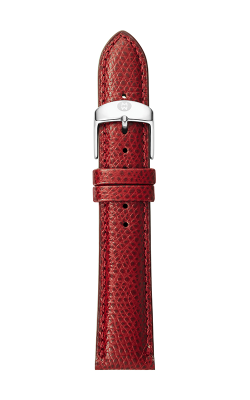 Michele 18mm Red Textured Calfskin Strap MS18AA720600