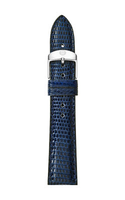 Michele 16mm Navy Lizard Strap MS16AA030400