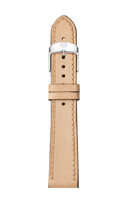 Michele 16mm Thin Tan Calfskin Strap MS16AA690231