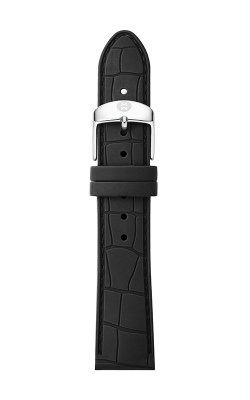 Michele 18mm Black Embossed Silicone Strap MS18AI710001