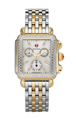 Michele Signature Deco Two-tone Diamond, Diamond Dial Watch MW06P01C5046_MS18AU285048 product image