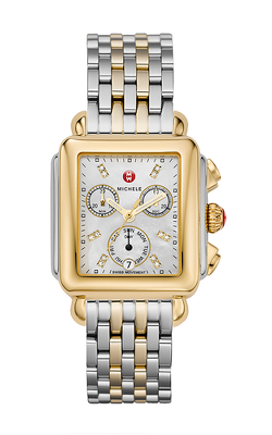 Michele Signature Deco Non-diamond Two-tone, Diamond Dial Two-tone Watch MW06P00C9046_MS18AU285048