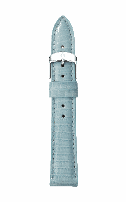Michele 16mm Blue Smoke Lizard Strap MS16AA030477