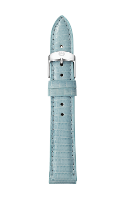 Michele 18mm Blue Smoke Lizard Strap MS18AA030477