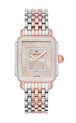 Michele Deco Madison Two-Tone Pink Gold Diamond Watch MW06T01L8113_MS18AU775045