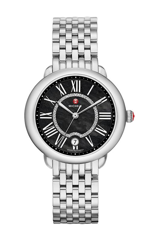Serein Mid, Black Diamond Dial Watch