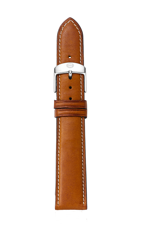 Michele 18mm Saddle Calfskin Strap