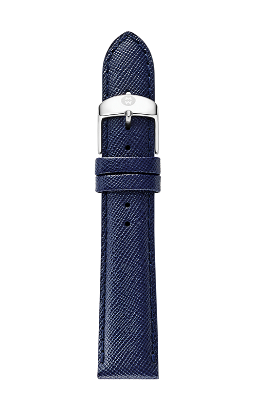 Michele 18mm Navy Blue Saffiano Strap MS18AA060400