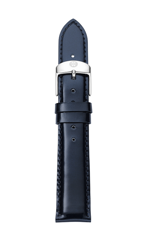 Michele 16mm Navy Patent Leather Strap