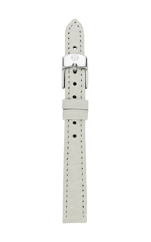 Michele 12mm White Alligator Strap