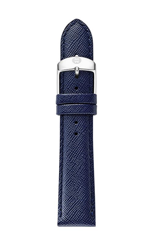 Michele 20mm Navy Blue Saffiano Strap MS20AB060400