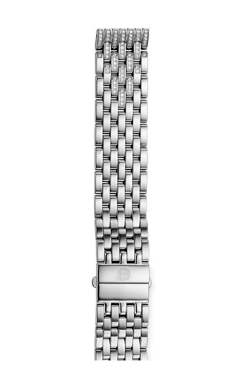 Michele 18mm Deco 7-Link Taper Steel Bracelet with Diamonds MS18EA235009
