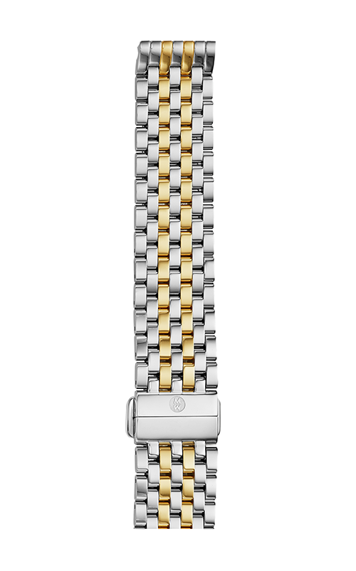 Michele 18mm Deco 7-Link Two-Tone Bracelet MS18AU285048