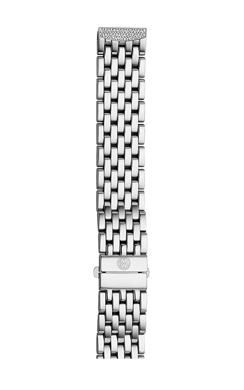 Michele 16mm Urban Mini 7-Link Stainless Steel Bracelet with Diamonds MS16DL235009