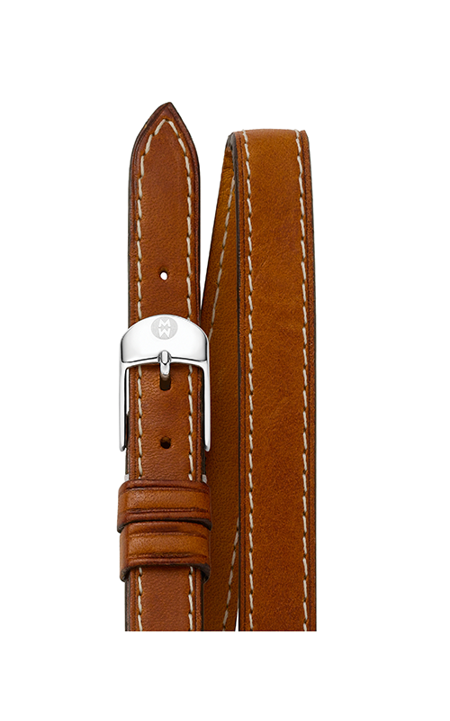 Michele 12mm Saddle Calf Skin Double Wrap Strap MS12BX270216