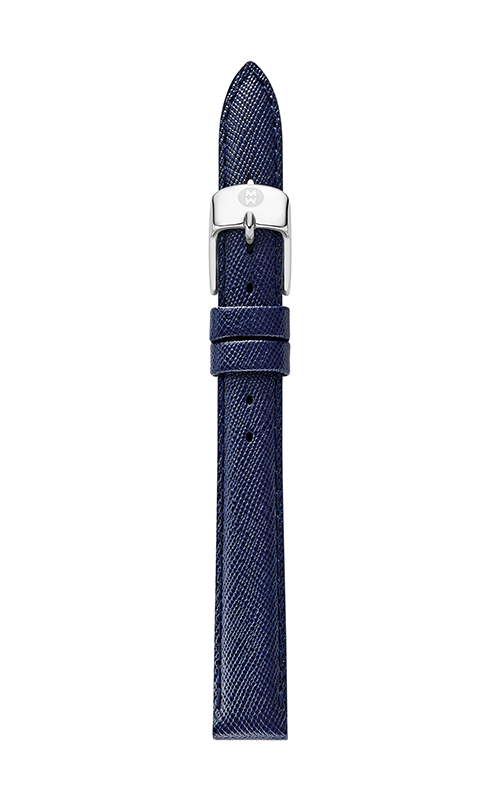 Michele 12mm Navy Blue Saffiano Strap MS12AA060400