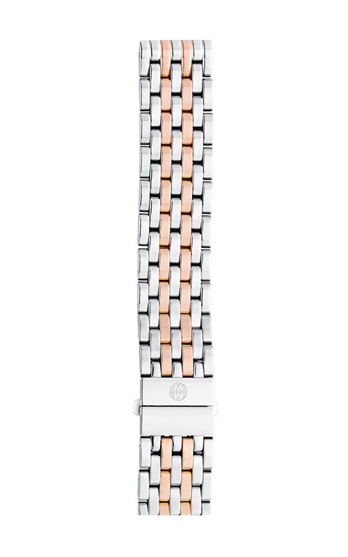 Michele 18mm Deco 7-Link Two-Tone Rose Gold Bracelet