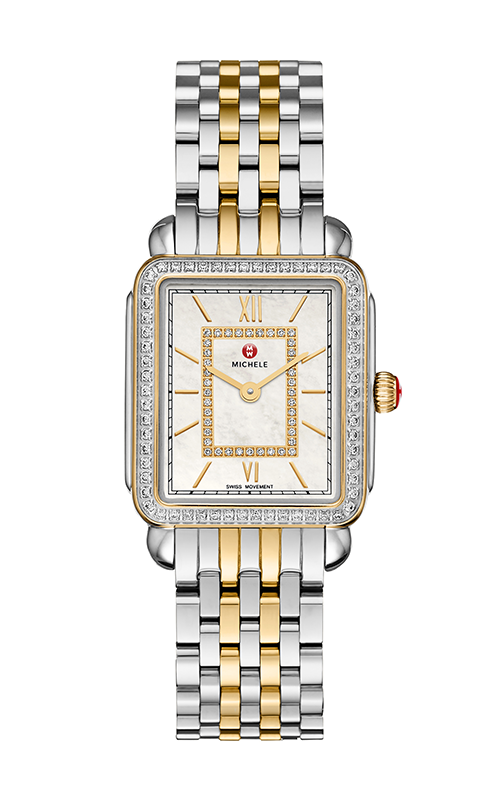 Michele Deco II Mid Diamond Two-Tone, Diamond Dial Watch