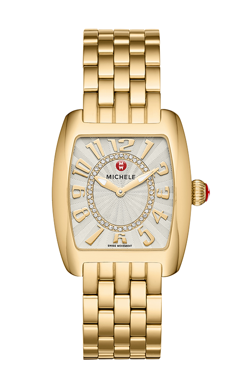 Michele Urban Mini Gold, Diamond Dial Watch