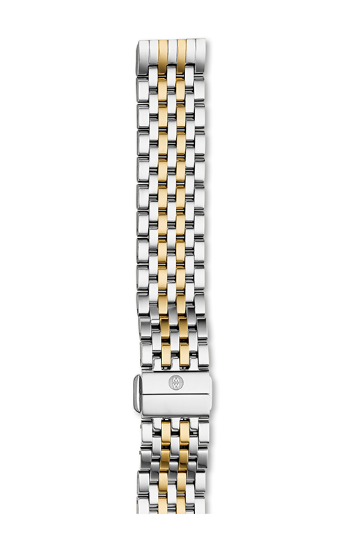 Michele 16MM Deco II Mid 7-Link Two Tone Bracelet MS16FT285048