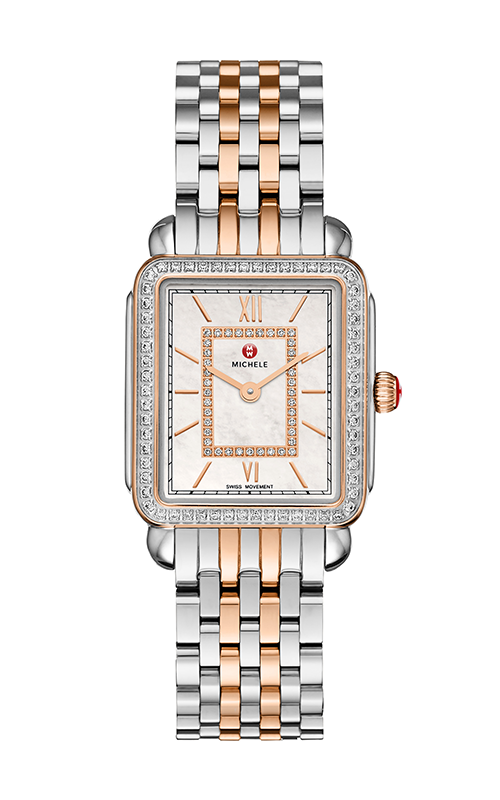 Michele Deco II Mid Diamond Rose Gold Two-Tone, Diamond Dial Watch MW06ID2963_MS16FT315750