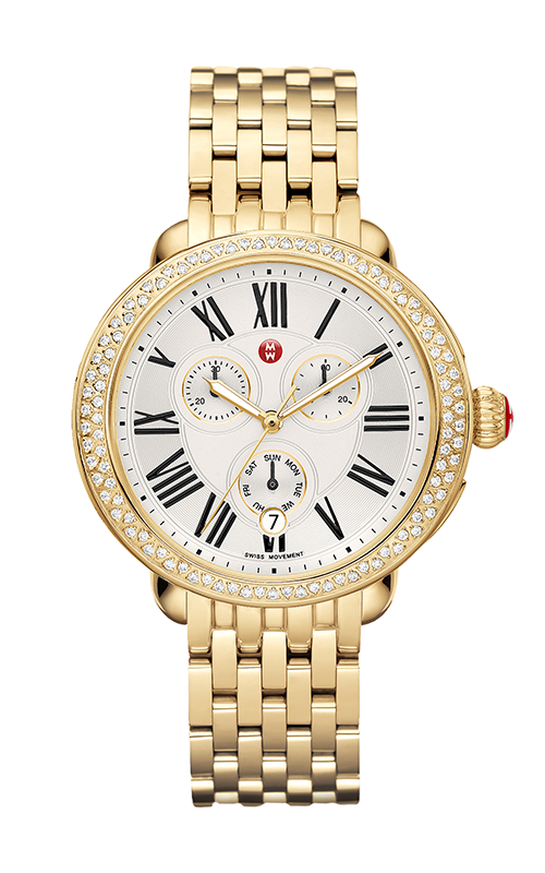 Michele Serein Diamond Gold Watch