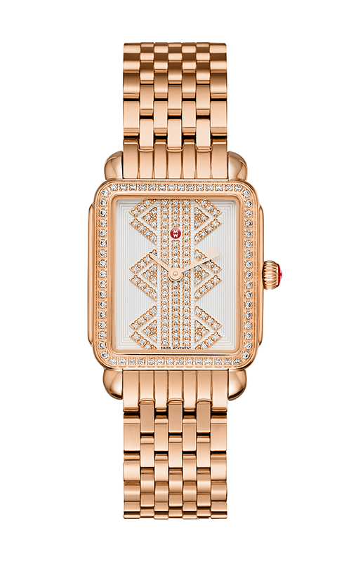 Michele Deco II Mid Rose Gold, Pattern Diamond Dial