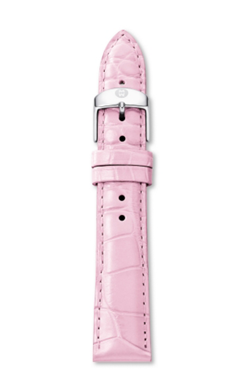 Michele 18mm Medium Pink Alligator MS18AA010660
