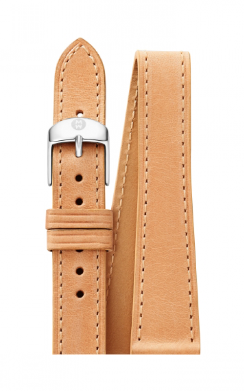 Michele 18mm Tan Leather Double Wrap MS18BX270231