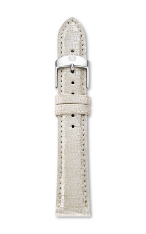 Michele 18mm Metallic Pearl Leather MS18AA430114