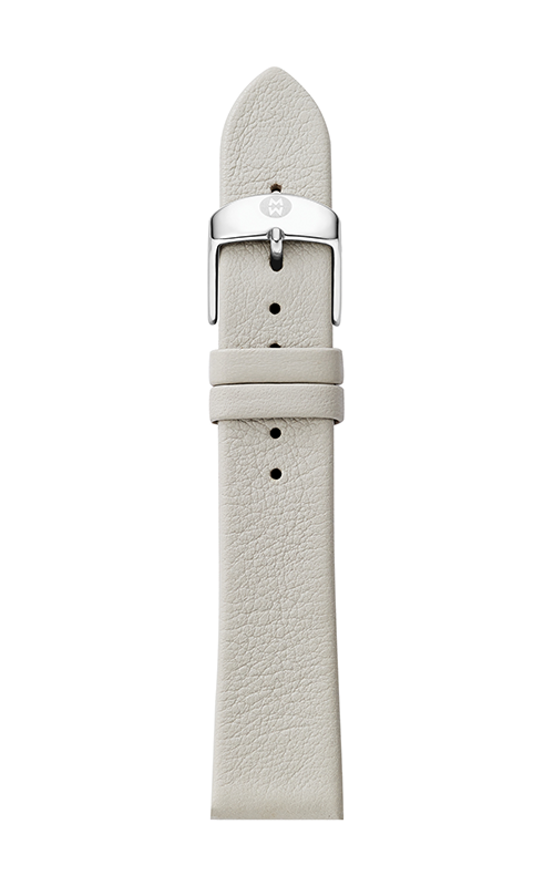 Michele 16mm Light Gray Thin Leather Strap MS16AN060050