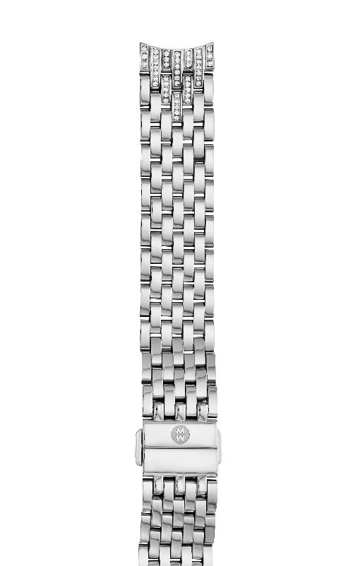 Michele 18MM 18mm Sidney Diamond Taper Stainless Steel 7-link Bracelet MS18GB235009