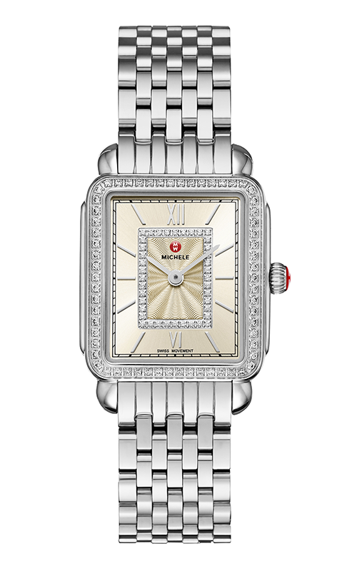 Michele Deco II Mid Stainless-Steel Champagne Diamond Watch MW06I01A1114_MS16FT235009