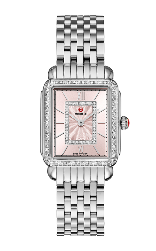 Michele Deco II Mid Stainless-Steel Blush Diamond Watch MW06I01A1115_MS16FT235009