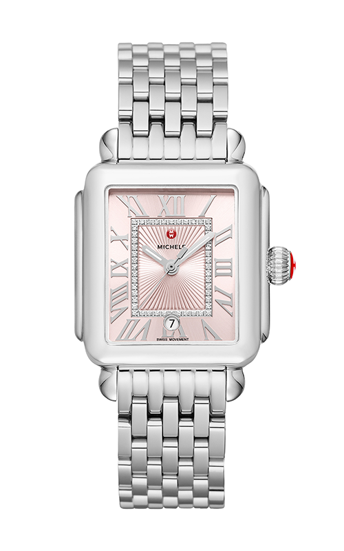Michele Deco Madison Stainless-Steel Blush Diamond Dial Watch MW06T00A0115_MS18AU235009