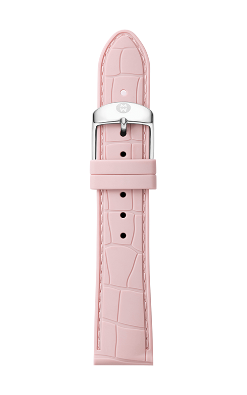 Michele 18mm Blush Embossed Silicone Strap MS18AI710429