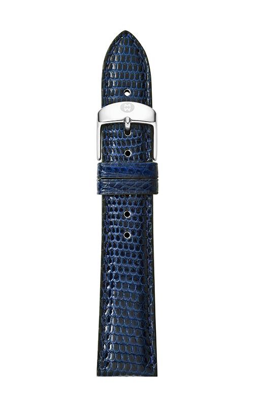 Michele 16mm Navy Lizard Strap MS16AA030400