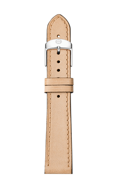 Michele 18mm Thin Tan Calfskin Strap MS18AA690231