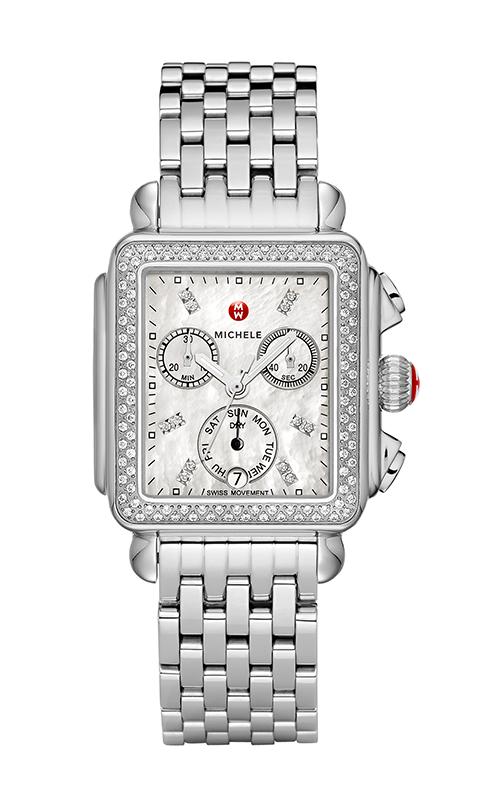 Michele Signature Deco Diamond, Diamond Dial Watch MW06P01A1046_MS18AU235009
