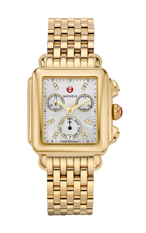 Michele Signature Deco Diamond Dial Gold Watch MW06P00A9046_MS18AU246710