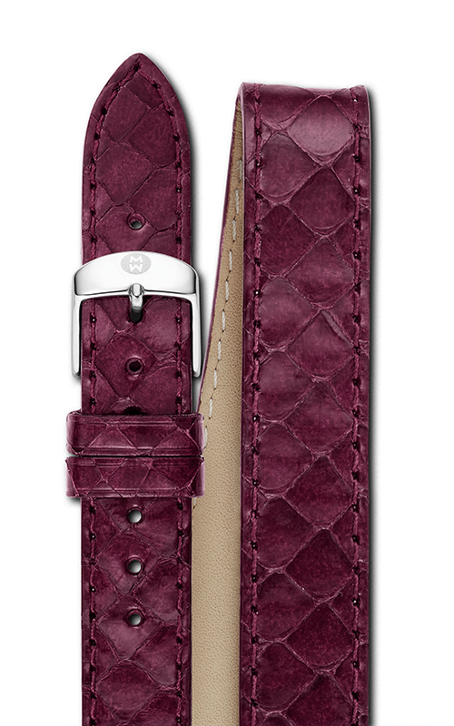 Michele 16mm Plum Snake Double Wrap Strap MS16BX380516